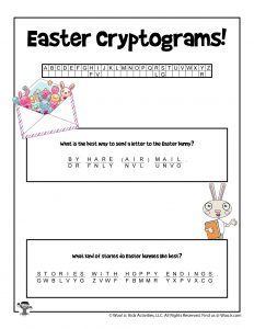 Easter Cryptogram Decode Puzzle - KEY