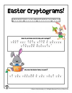 Easter Cryptogram Printable Puzzle