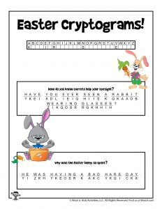 Easter Cryptogram Printable Puzzle - KEY