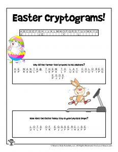 Easter Cryptogram Puzzle Game - KEY