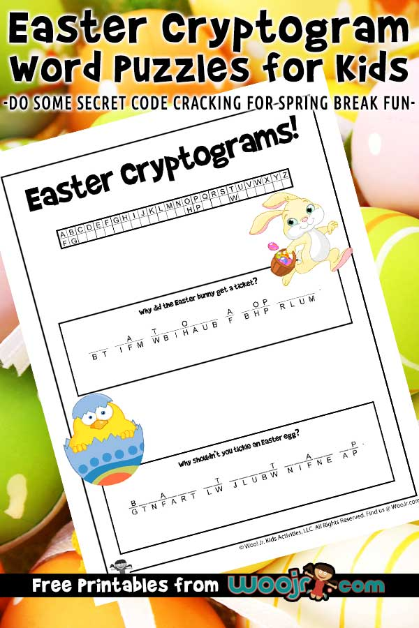 Easter Cryptogram Word Puzzles