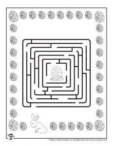 Easter Labyrinth Printable Maze