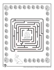 Easter Labyrinth Printable Maze - ANSWER KEY
