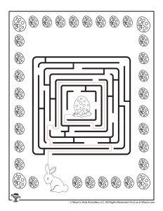 Easter Labyrinth Printable Maze - ANSWER KEY