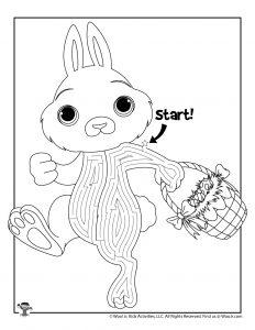 Easter Bunny Basket Maze Labyrinth