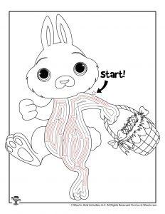 Easter Bunny Basket Maze Labyrinth - KEY