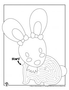Printable Easter Maze Activity Page