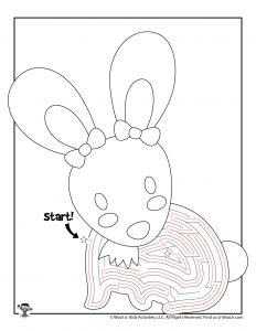 Printable Easter Maze Activity Page - KEY