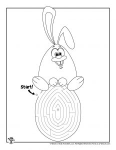 Easter Maze Bunny on Egg Puzzle