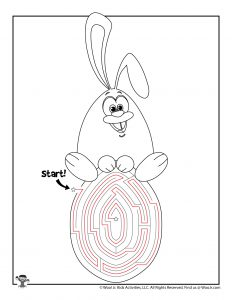 Easter Maze Bunny on Egg Puzzle - KEY