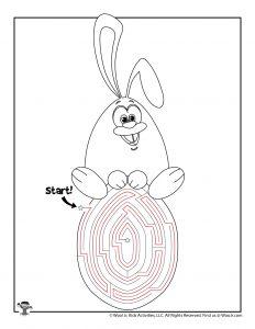 Easter Maze Bunny on Egg Puzzle - KEY