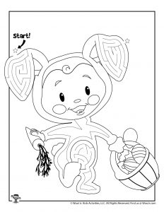 Cute Easter Maze for Kids