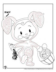 Cute Easter Maze for Kids - ANSWER KEY