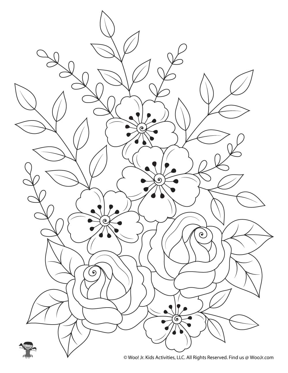 Flowers Nature Adult Coloring Page Woo Jr Kids Activities