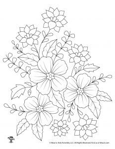 Adult Coloring Printable Flower Bouquet