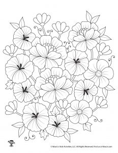 Flower Free Adult Coloring Sheet