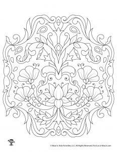 Flowers Detailed Printable Coloring Page