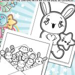 Kawaii Printable Coloring Pages
