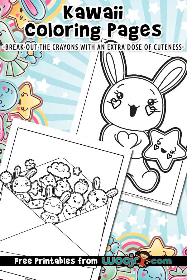 Kawaii Printable Coloring Pages Woo Jr Kids Activities