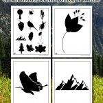 Printable Nature Silhouette Templates