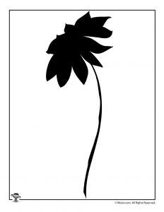 Printable Flower Nature Silhouette