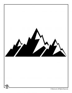 Mountain Nature Craft Printable Silhouette
