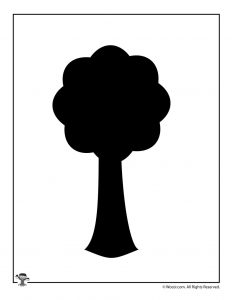 Nature Silhouette Tree Template