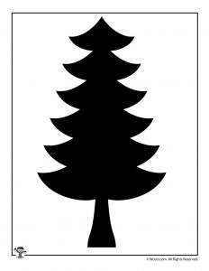 Pine Tree Nature Silhouette Pattern
