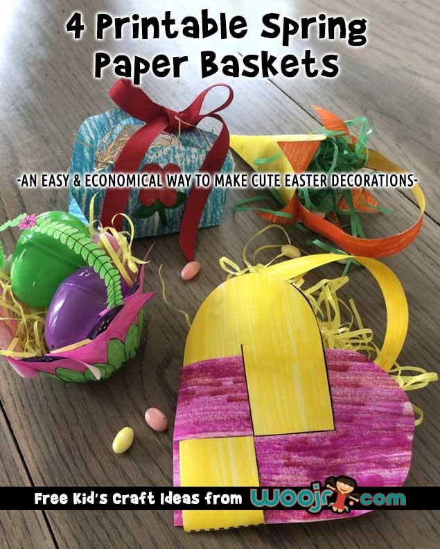 Printable Spring Paper Baskets
