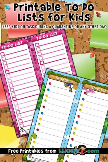 Printable To Do Lists for Kids
