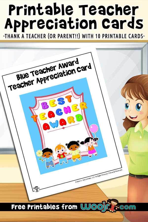 This is an image of Free Printable Cards for Teachers for preschool