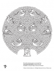 Tree Life Adult Coloring Mandala