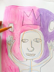Basquiat Kids Painting