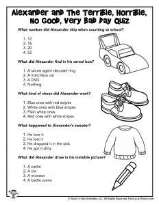 Reading Comprehension Quiz