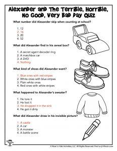 Reading Comprehension Quiz - KEY