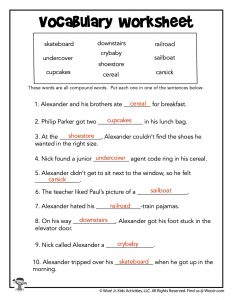 Printable Vocabulary Study Worksheet - KEY