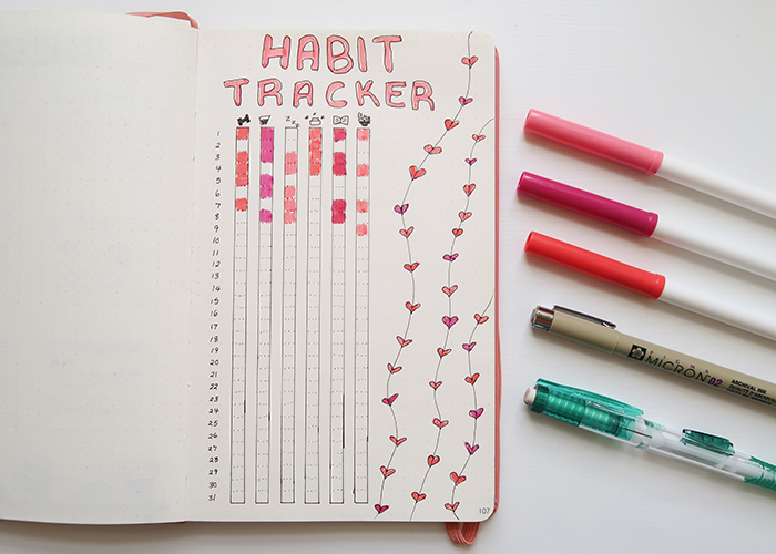 Bullet Journal Habit Trackers for Teens
