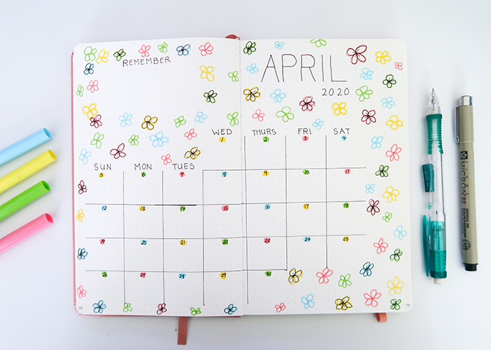 Bullet Journaling for Teens - Monthly Layouts