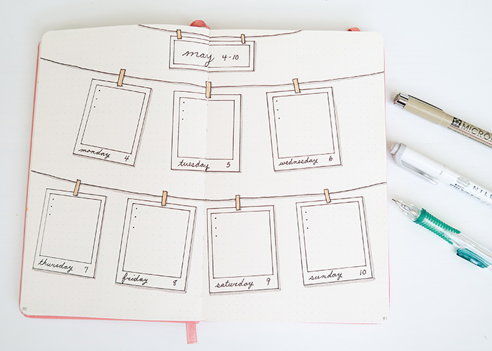 Weekly Bullet Journal Layouts For Teens