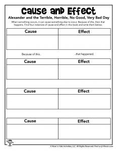 Cause Effect Worksheet