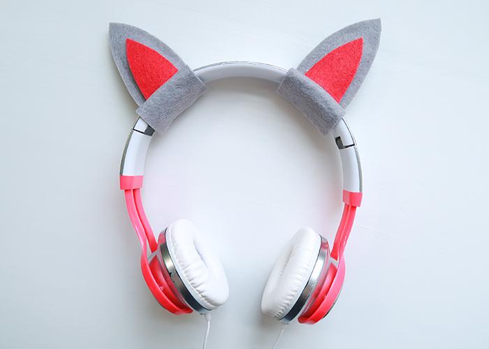 Easy Custom Kitty Ear Headphones
