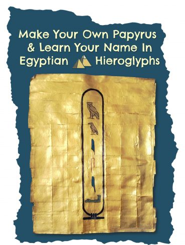 Your Name in Egyptian Hieroglyphs – A DIY Art Project