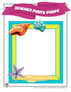 Sandy Beach Free Printable Photo Frame
