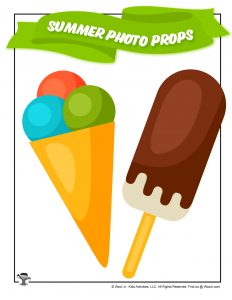 Ice Cream Party Photoshoot Printable Props
