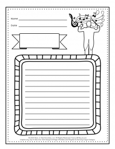 Musical Instruments Families Writing Worksheet