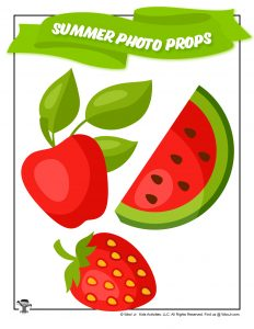 Printable Summer Fruit Photo Booth Props