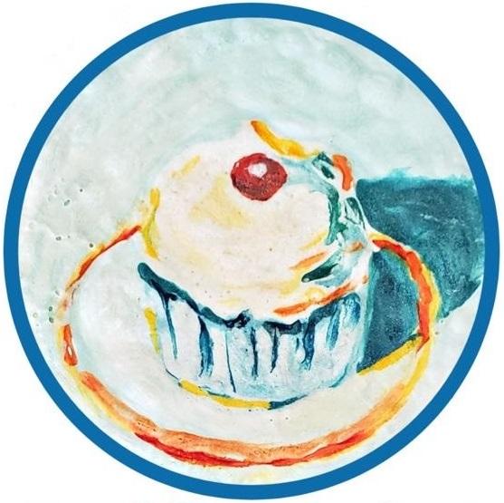 Cupcake Painting Inspired by Wayne Thiebaud