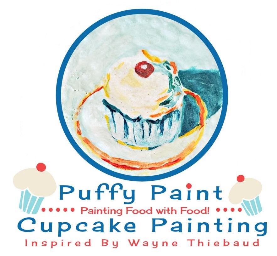 Cupcake Painting With Puffy Paint Recipe: Inspired by Wayne Thiebaud