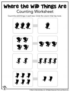 Wild Things Counting Worksheet