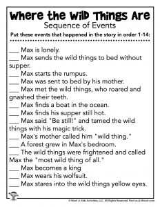 Sequence of Events Reading Worksheet